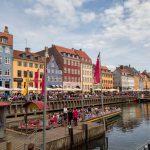 Some colorful building facades along the Nyhavn Canal at Copenhagen Denmark